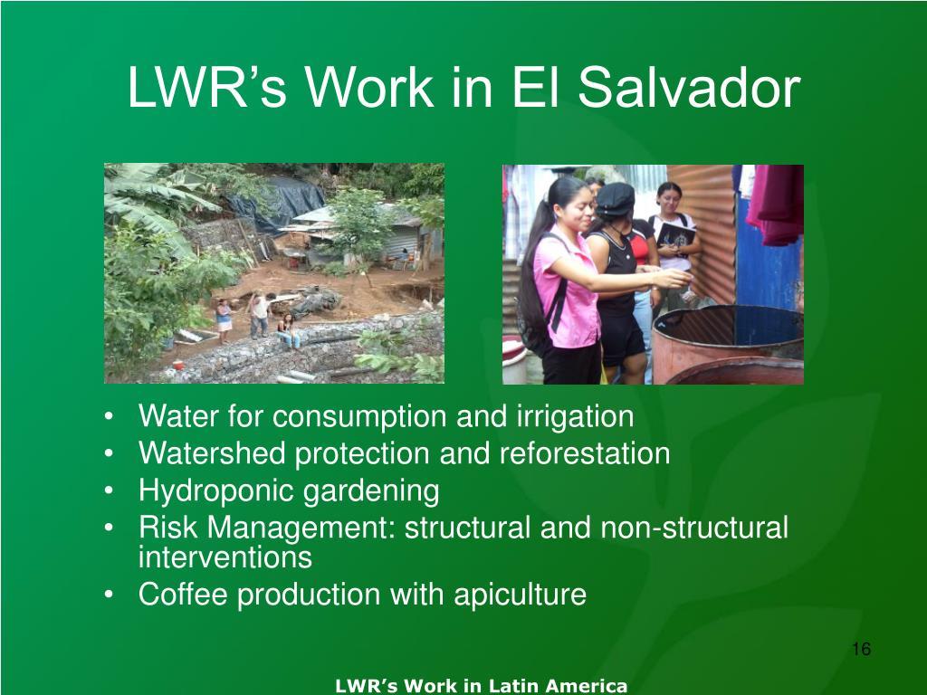 LWR's Work in El Salvador