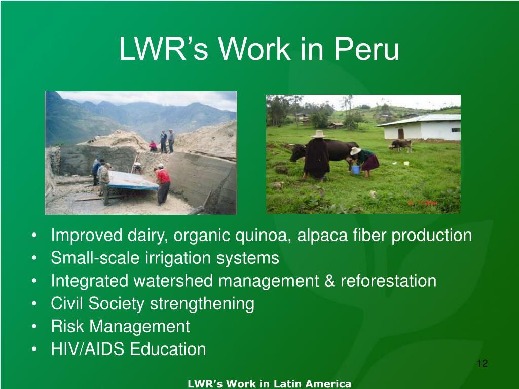 LWR's Work in Peru