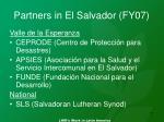 partners in el salvador fy07