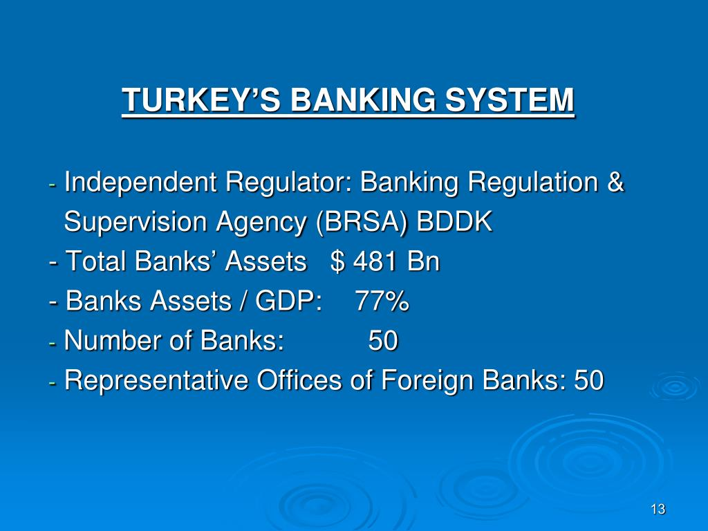 TURKEY'S BANKING SYSTEM