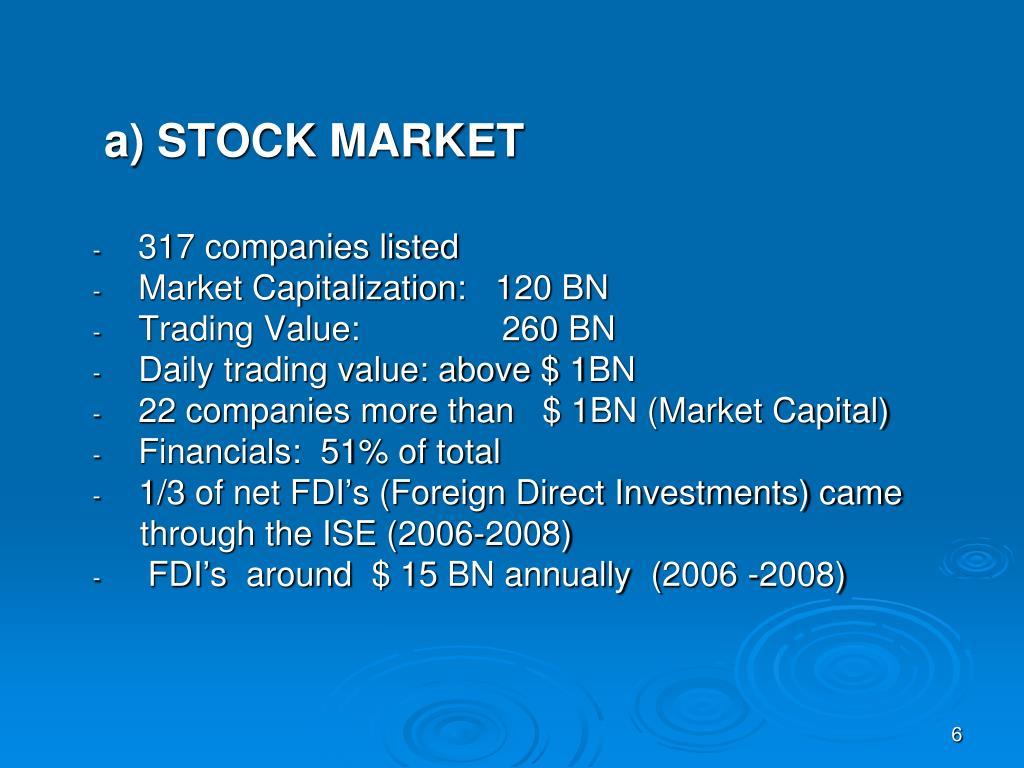a) STOCK MARKET