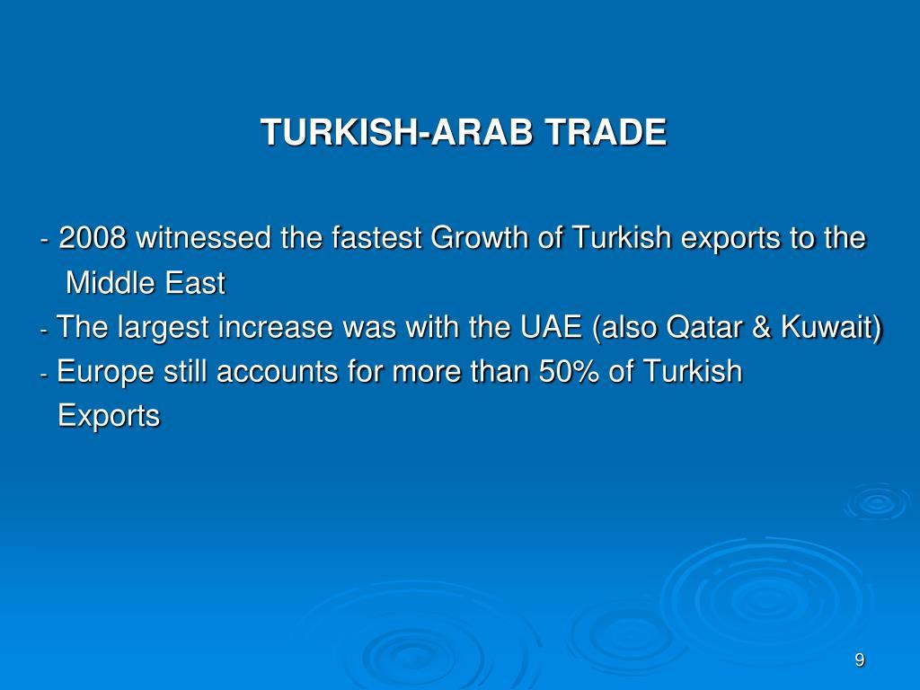 TURKISH-ARAB TRADE