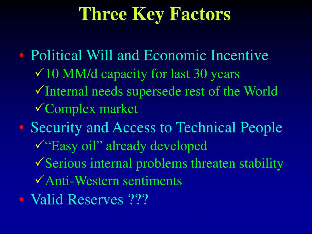 Three Key Factors