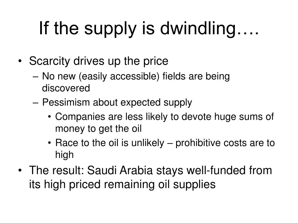 If the supply is dwindling….