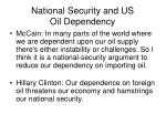 national security and us oil dependency
