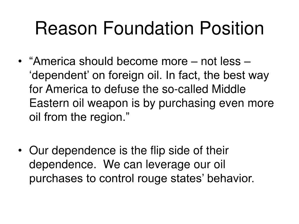 Reason Foundation Position