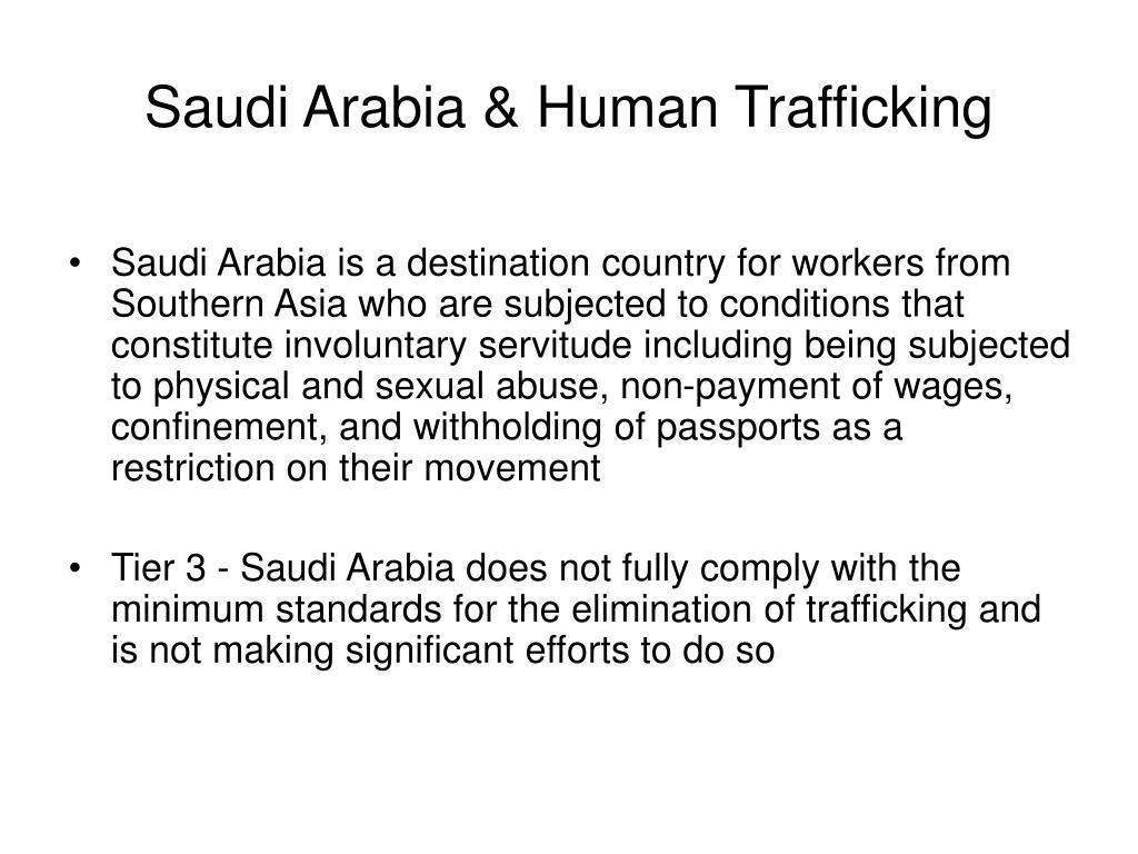 Saudi Arabia & Human Trafficking