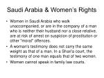 saudi arabia women s rights