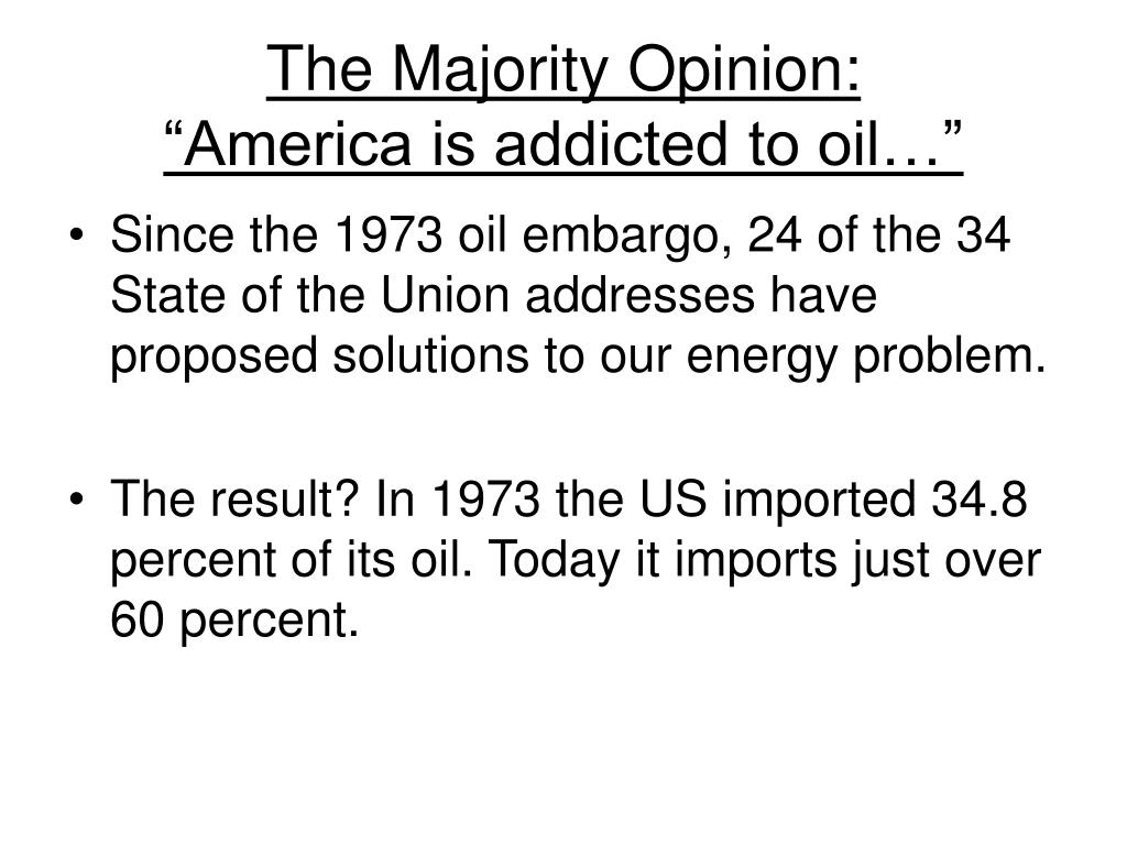 The Majority Opinion: