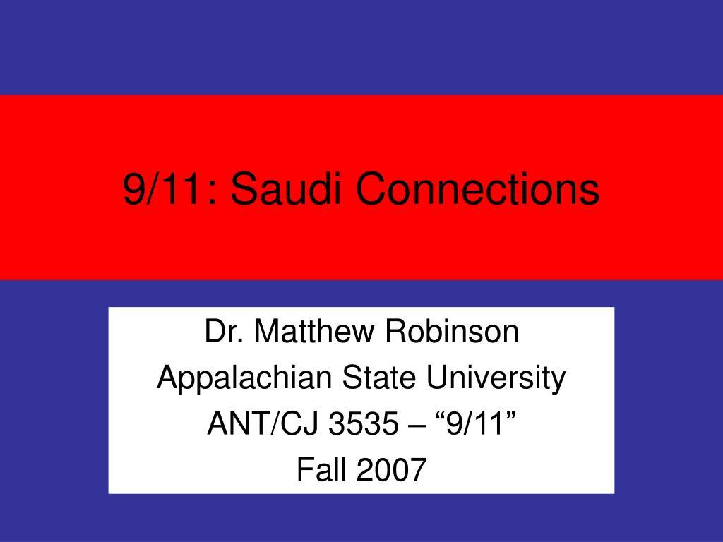9/11: Saudi Connections