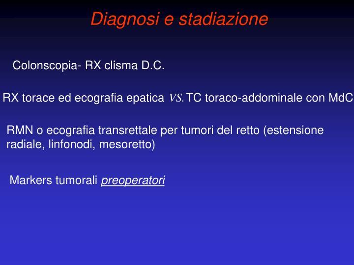 Diagnosi e stadiazione