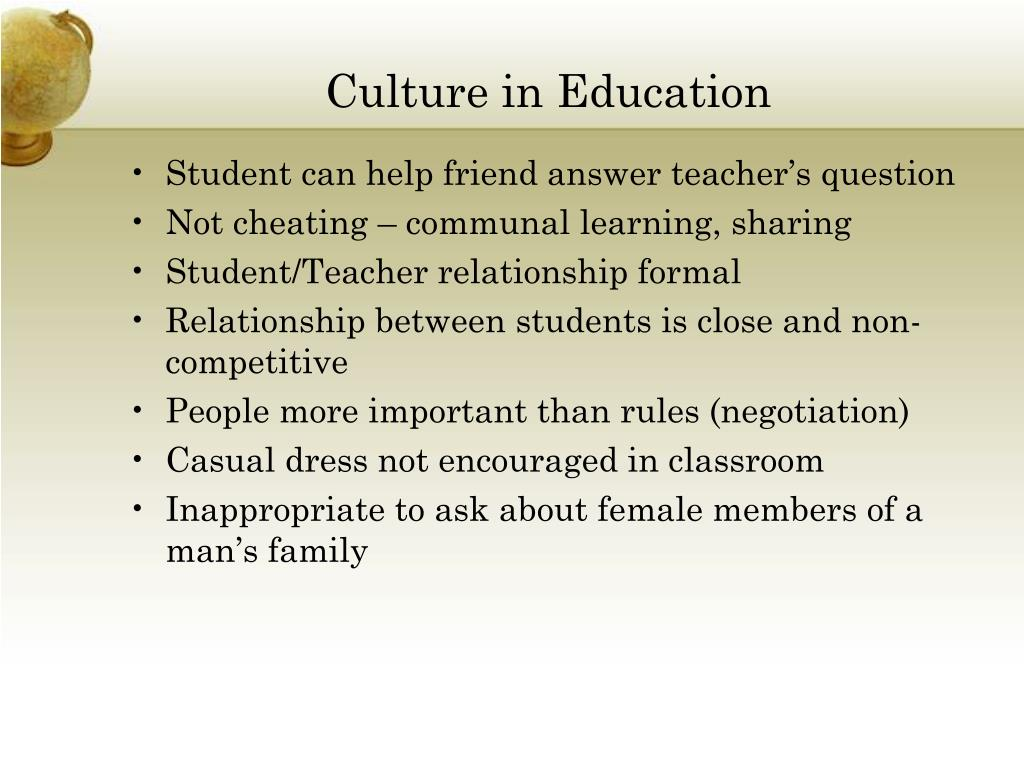 Culture in Education