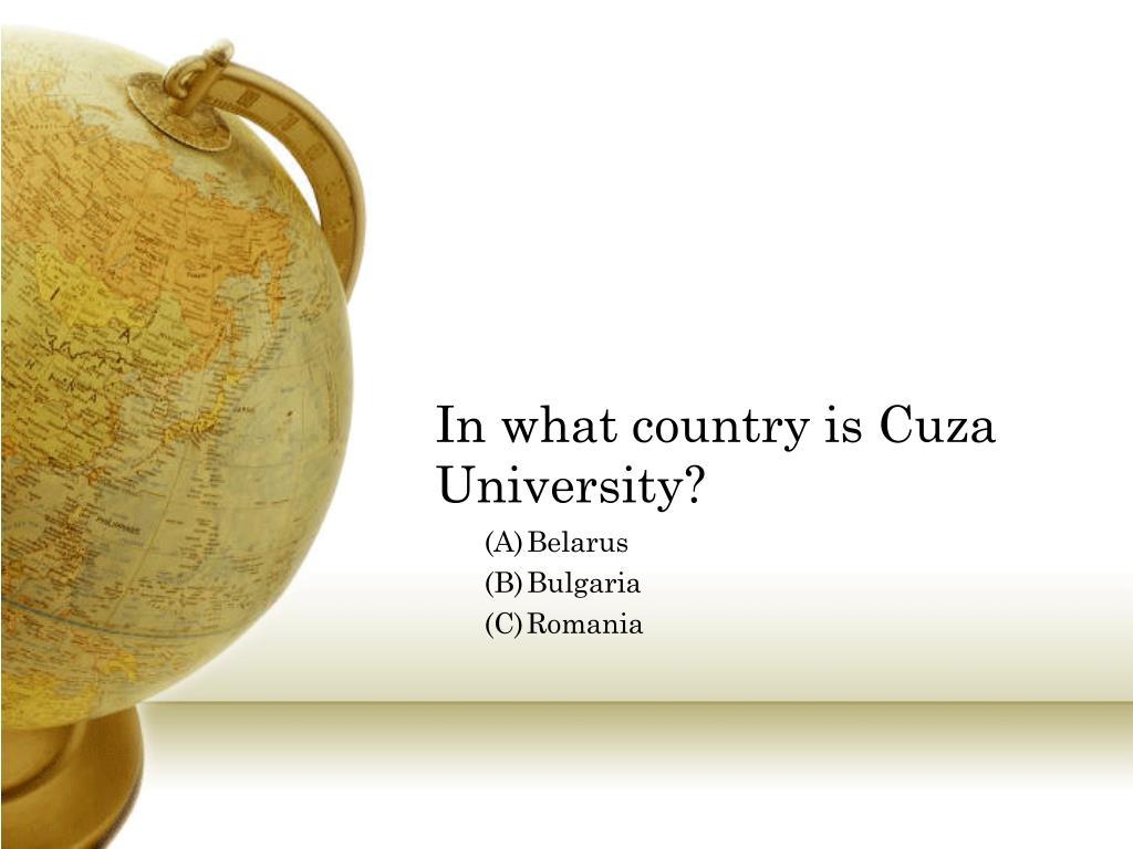 In what country is Cuza University?
