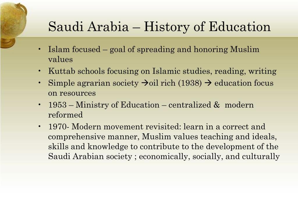Saudi Arabia – History of Education