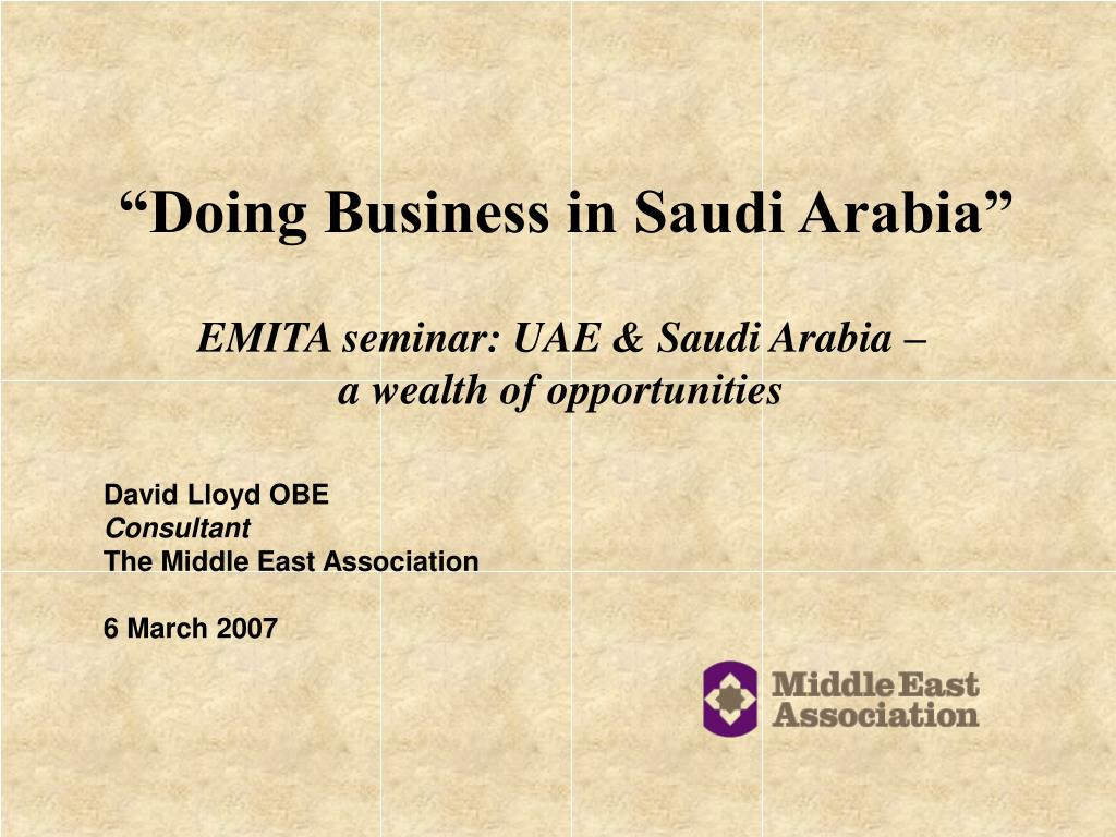 """Doing Business in Saudi Arabia"""