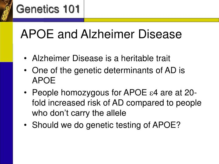 APOE and Alzheimer Disease
