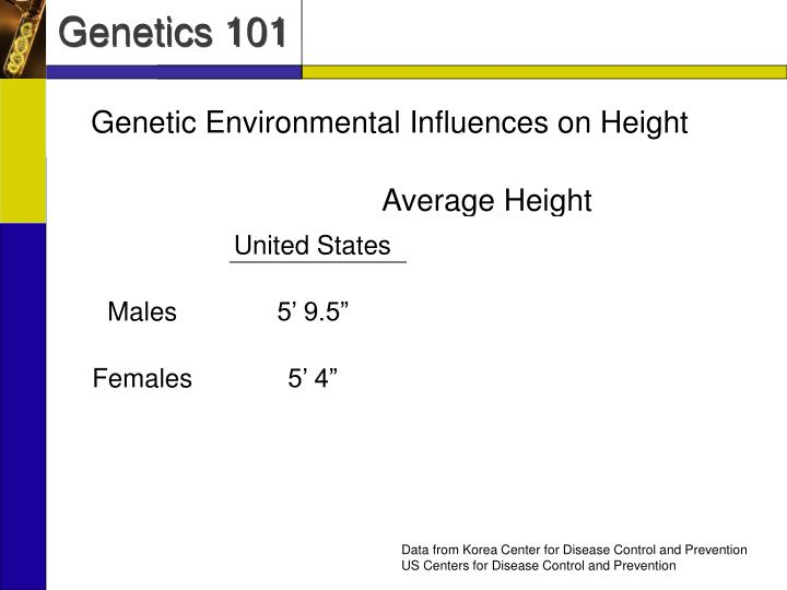 Genetic Environmental Influences on Height