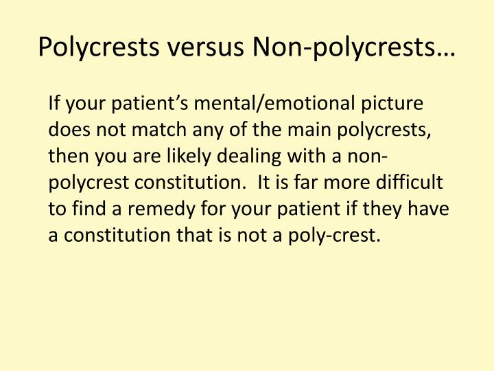 Polycrests