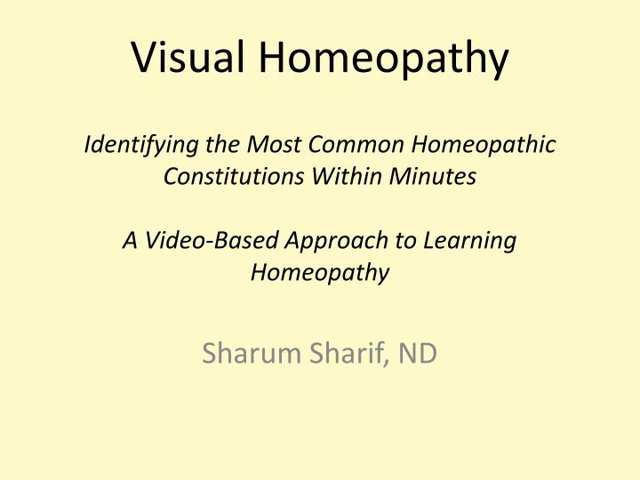 Visual Homeopathy