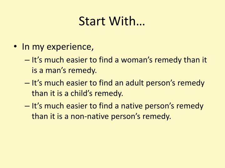 Start With…