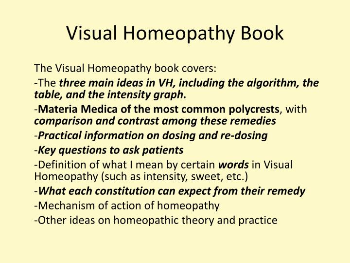 Visual Homeopathy Book