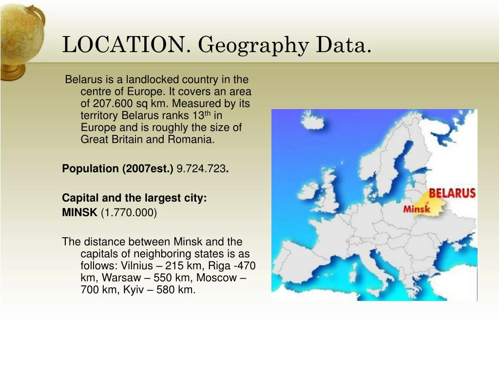 LOCATION. Geography Data.
