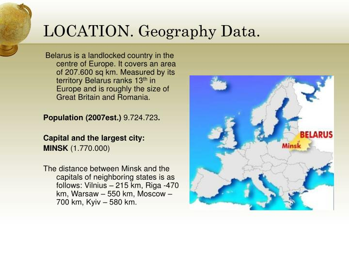 Location geography data