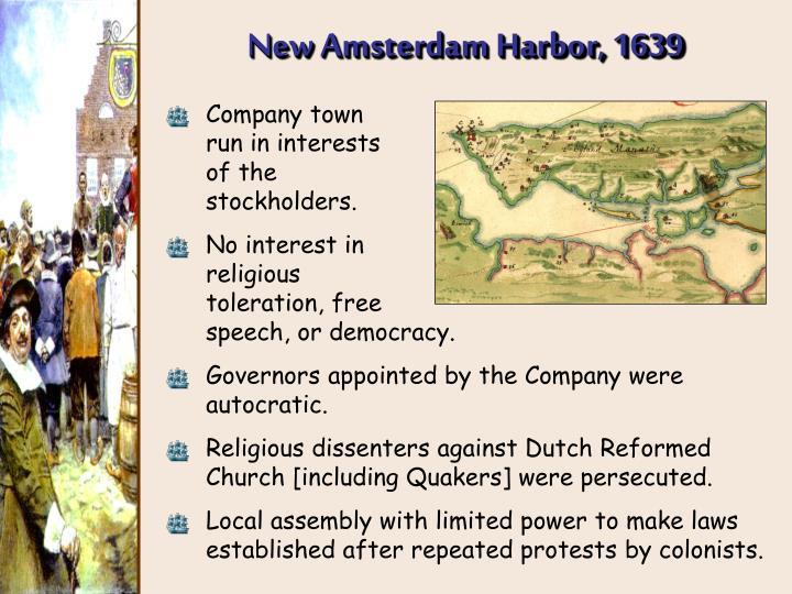 New Amsterdam Harbor, 1639