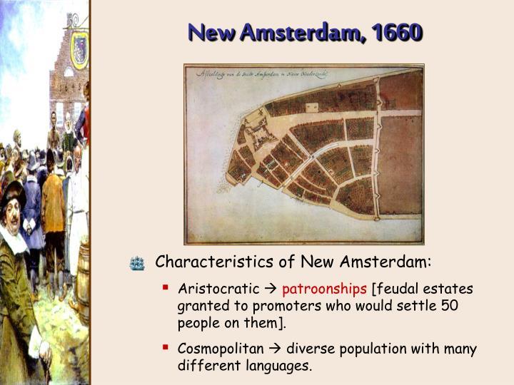 New Amsterdam, 1660