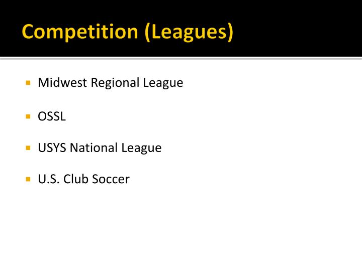 Competition (Leagues)