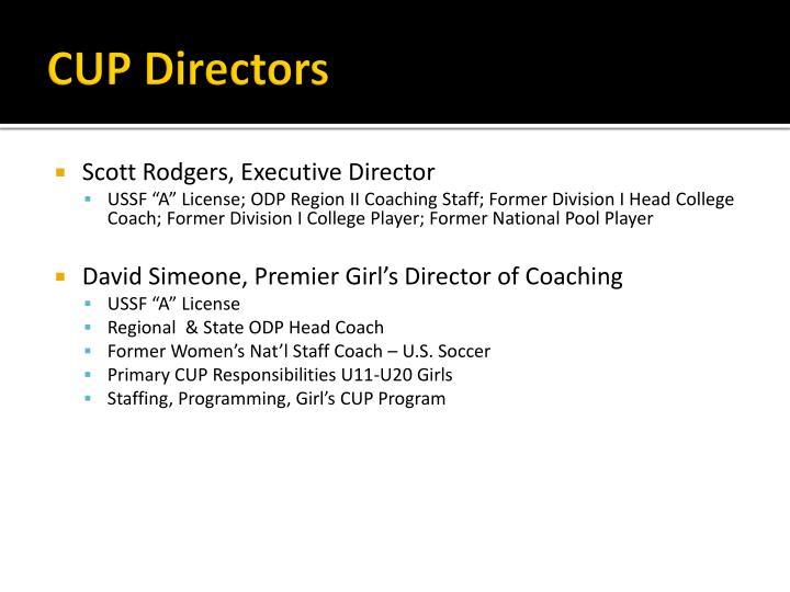 CUP Directors