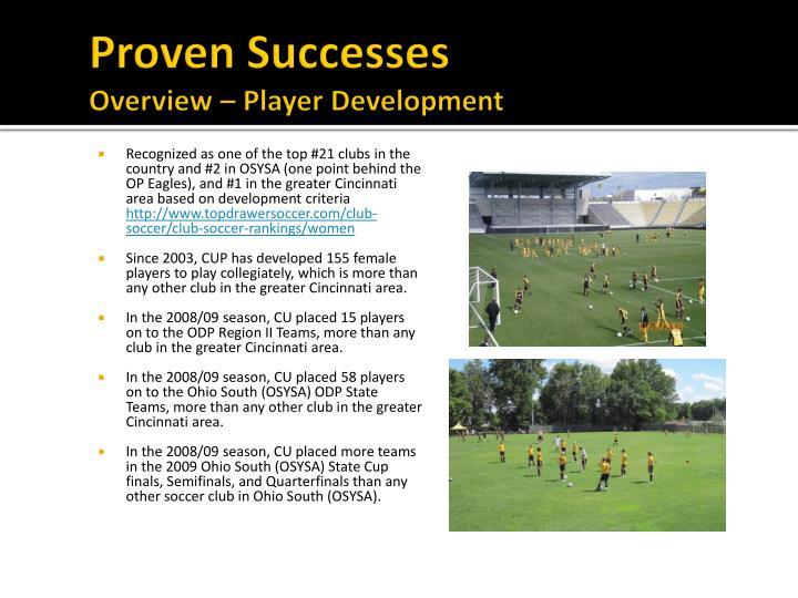 Proven Successes