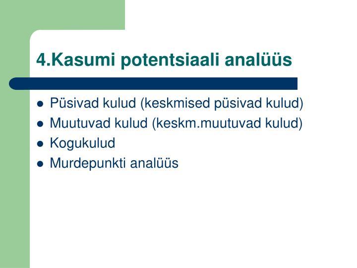 4.Kasumi potentsiaali analüüs