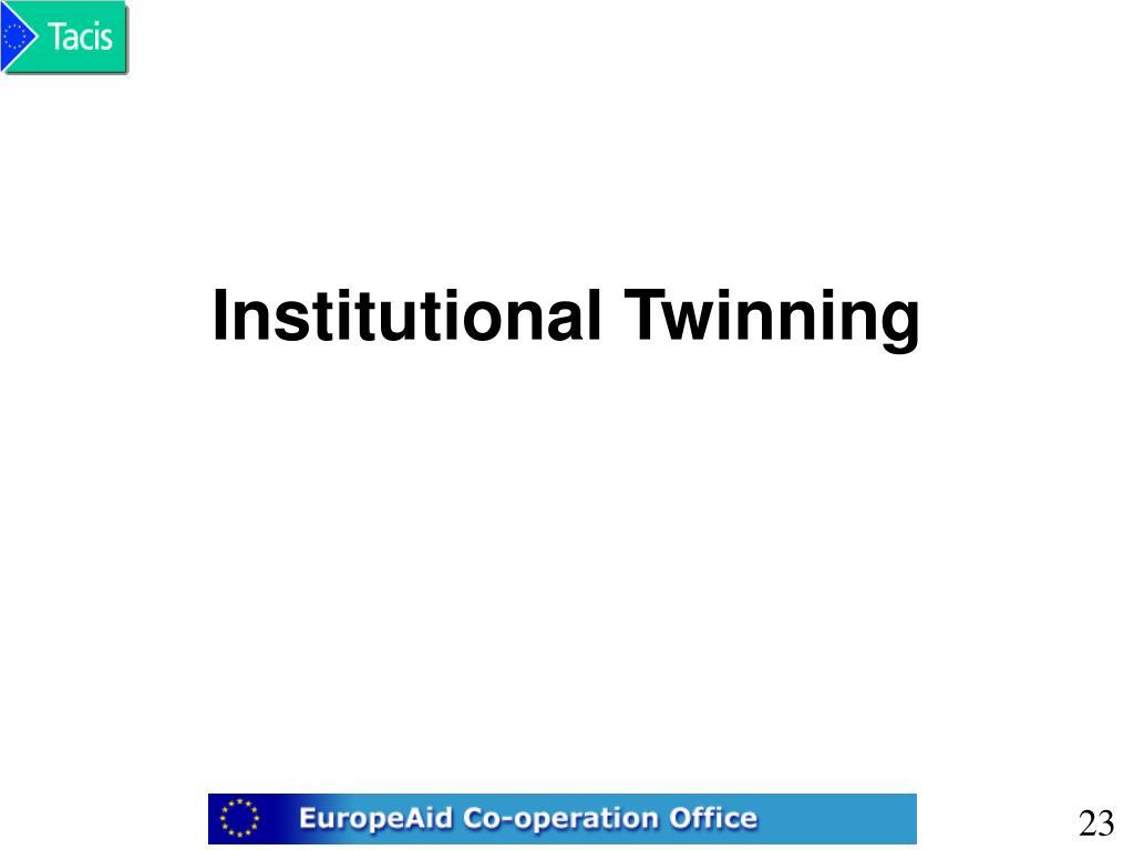 Institutional Twinning