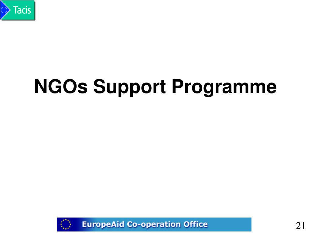 NGOs Support Programme