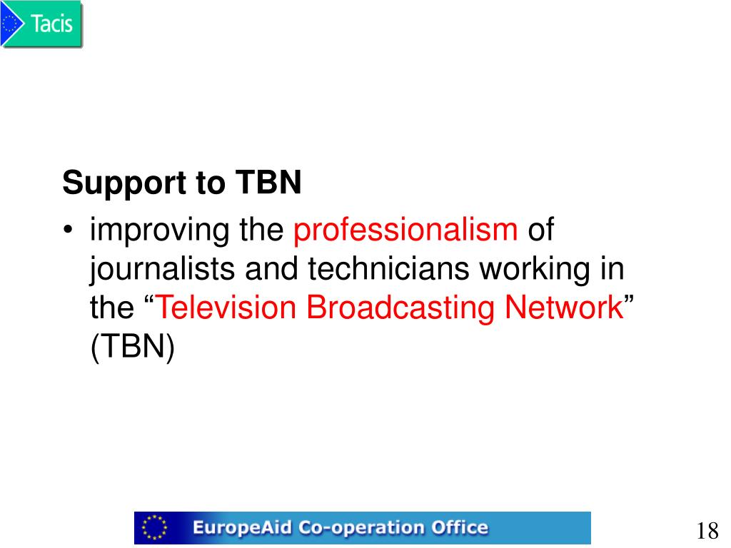 Support to TBN