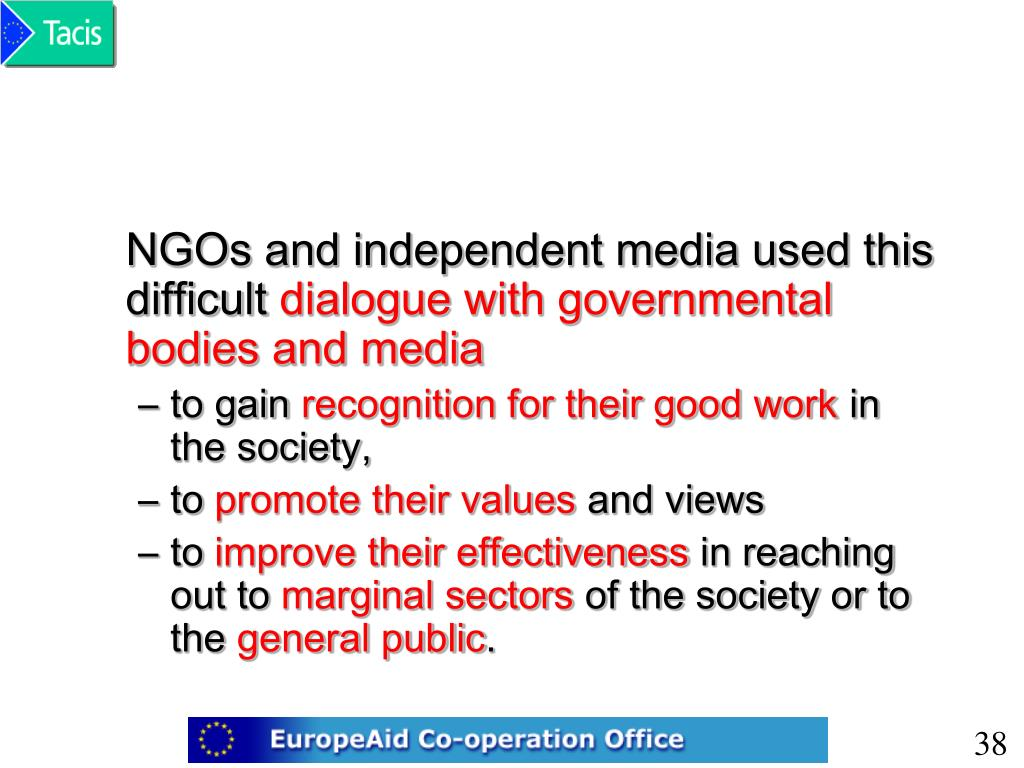 NGOs and independent media used this difficult