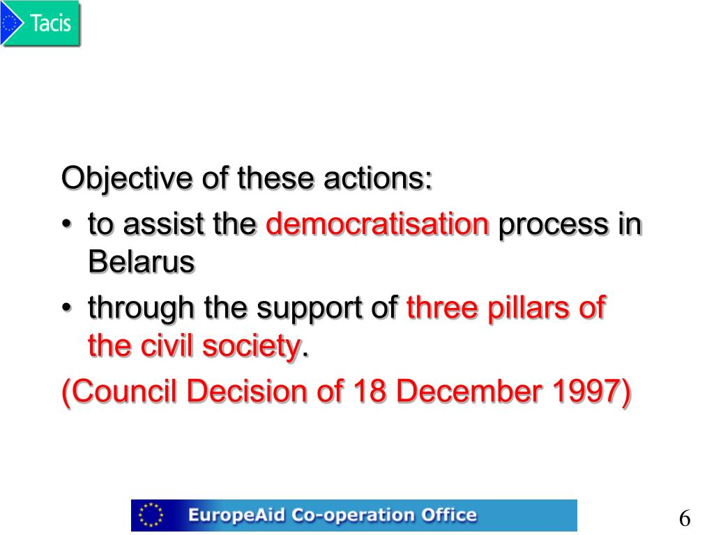Objective of these actions: