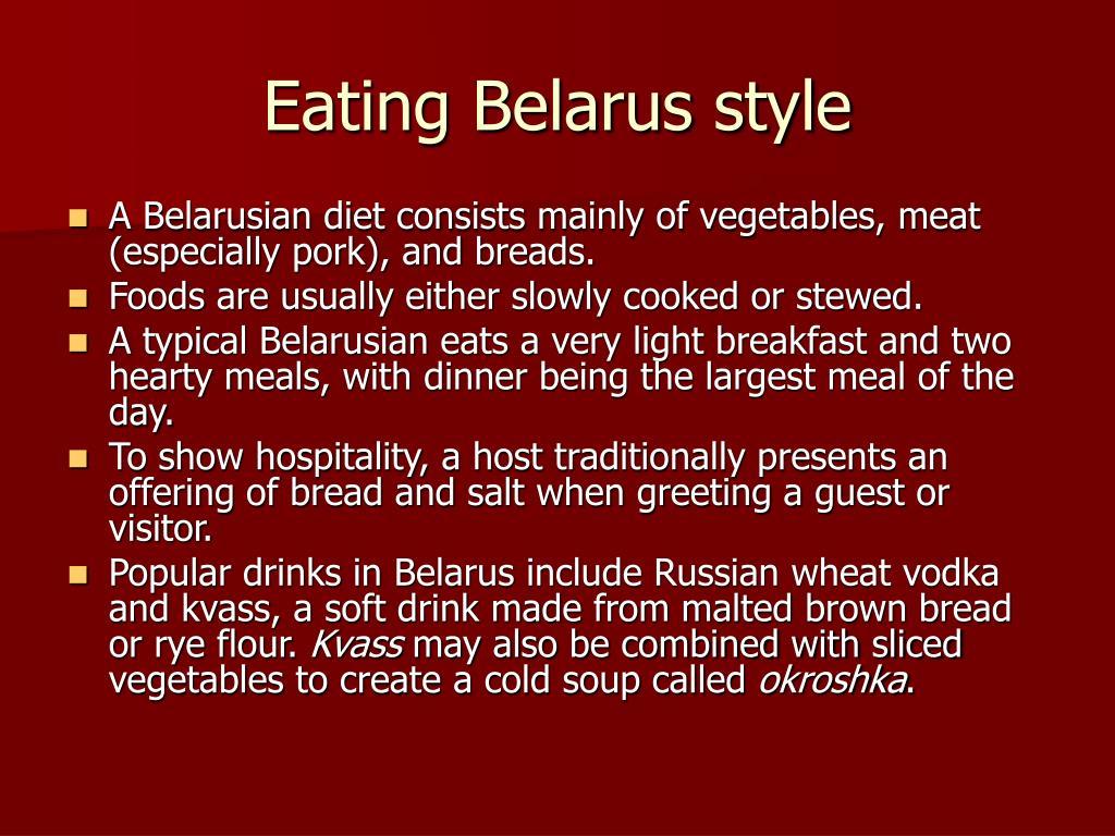 Eating Belarus style