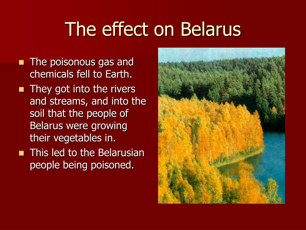 The poisonous gas and chemicals fell to Earth.