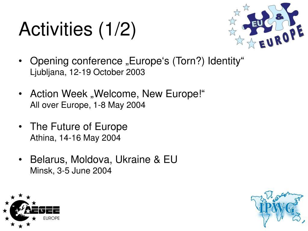 Activities (1/2)