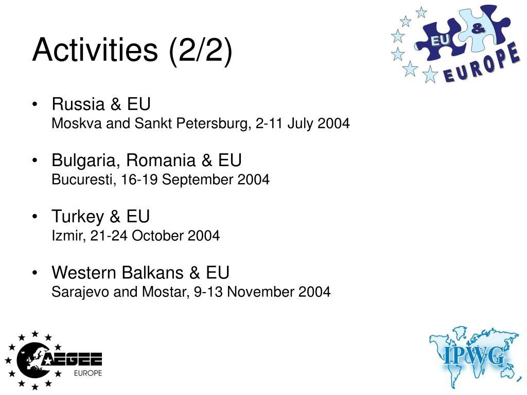 Activities (2/2)