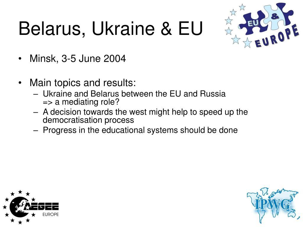 Belarus, Ukraine & EU