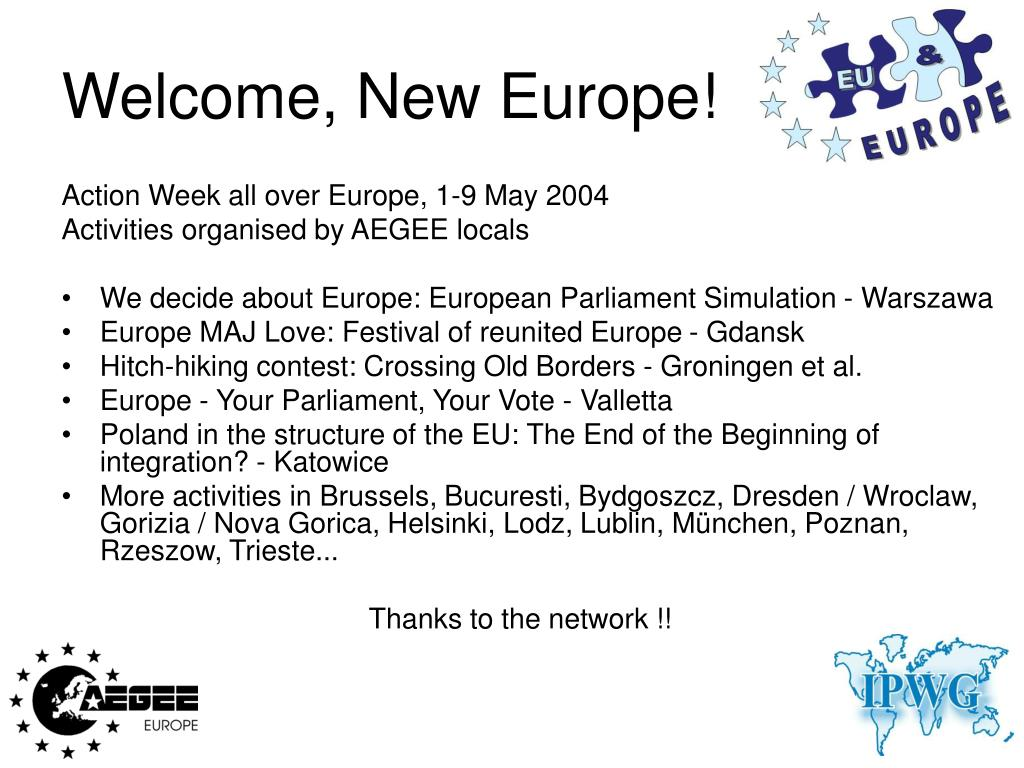 Welcome, New Europe!