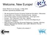 welcome new europe