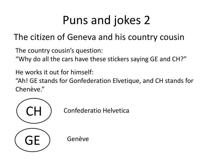 Puns and jokes