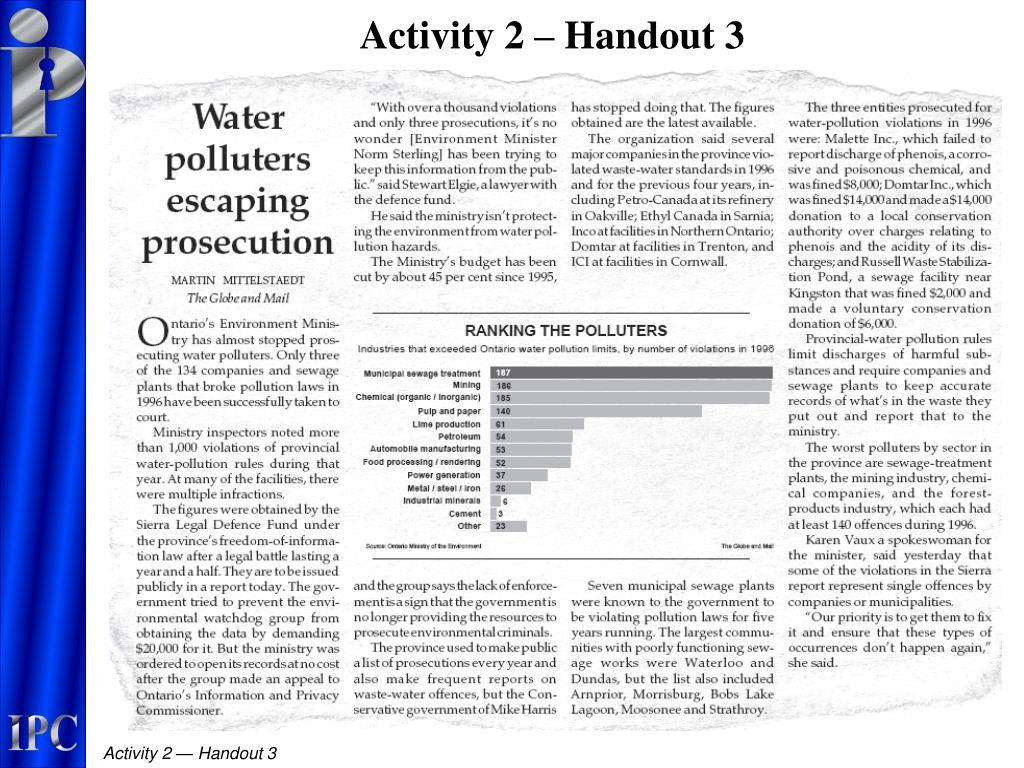 Activity 2 – Handout 3