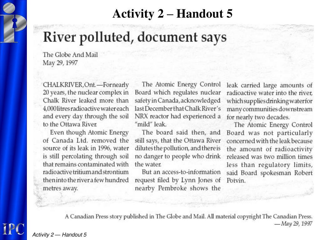 Activity 2 – Handout 5