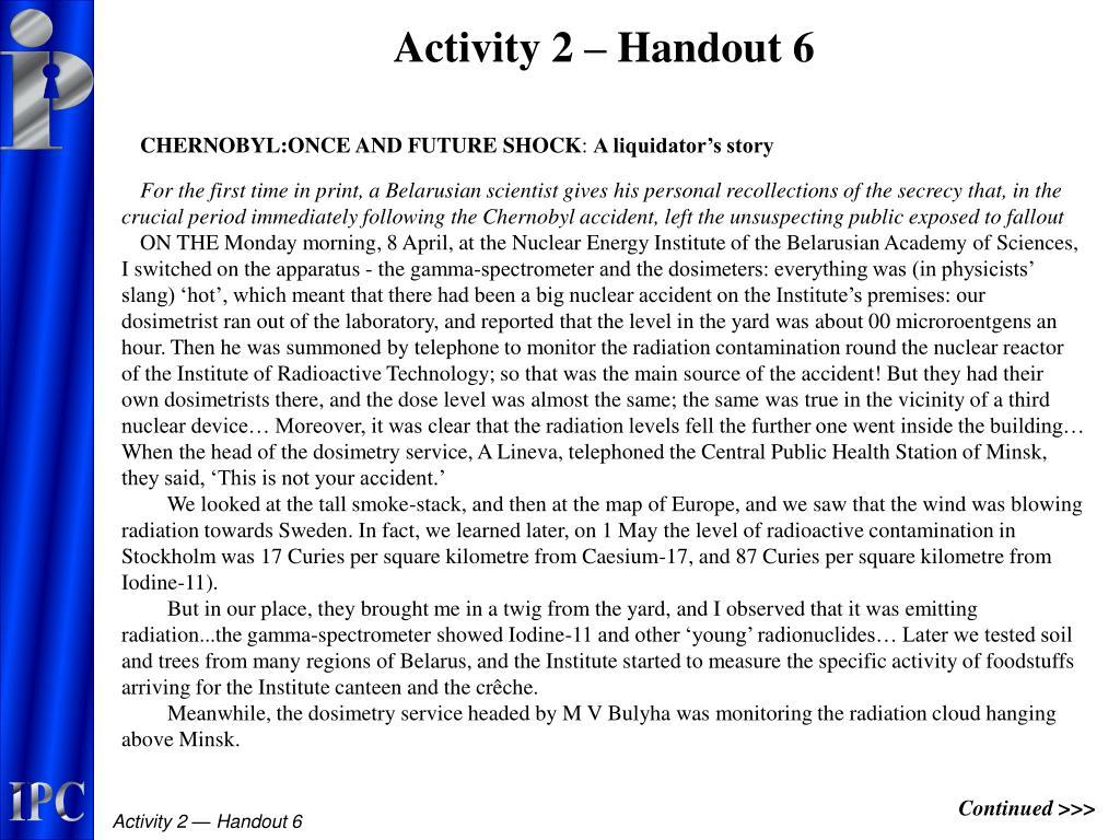Activity 2 – Handout 6
