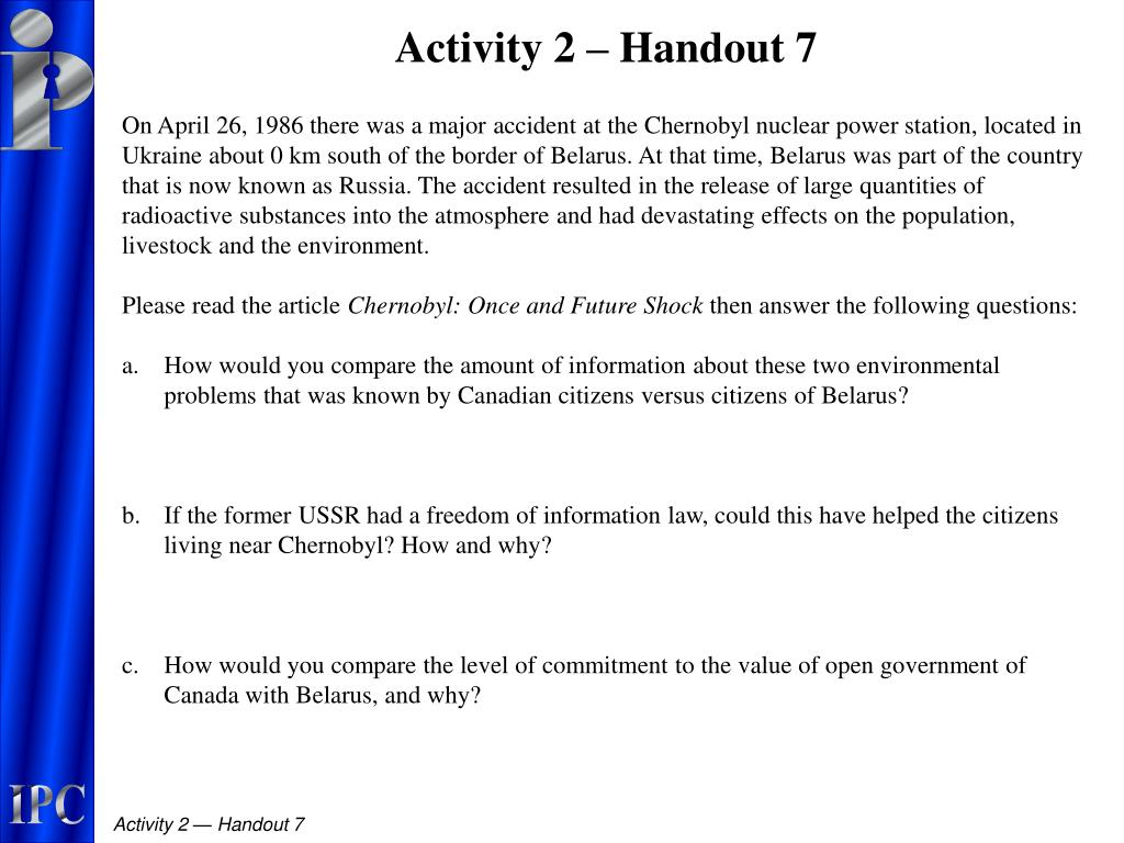 Activity 2 – Handout 7